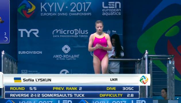 Чемпіонат Європи зі стрибків у воду: Лискун п'ята на вишці