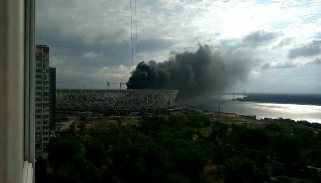 В России горел недостроенный олимпийский стадион