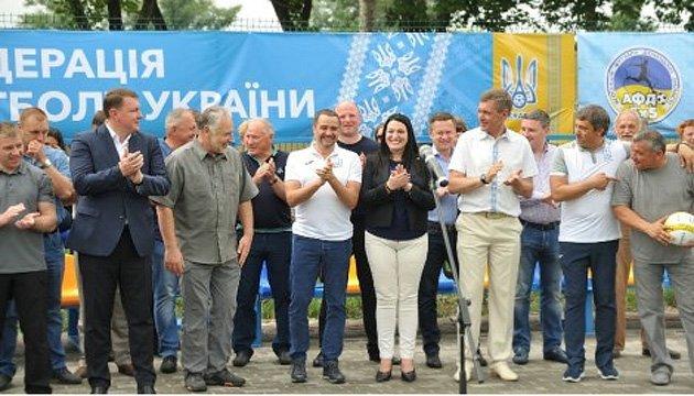Павелко открыл футбольный стадион в Краматорске