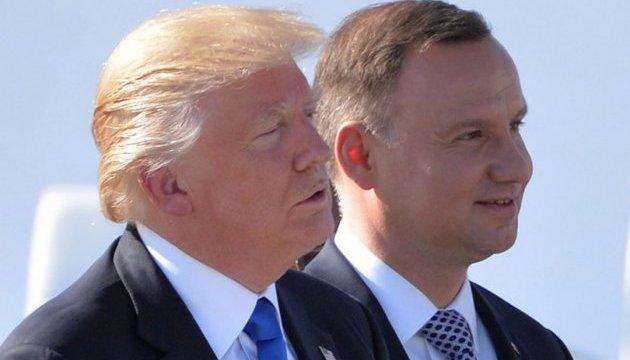 Дуда: визит Трампа свидетельствует о росте роли Польши