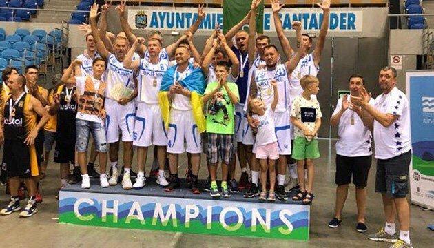 Украинские баскетболисты выиграли чемпионат Европы среди ветеранов