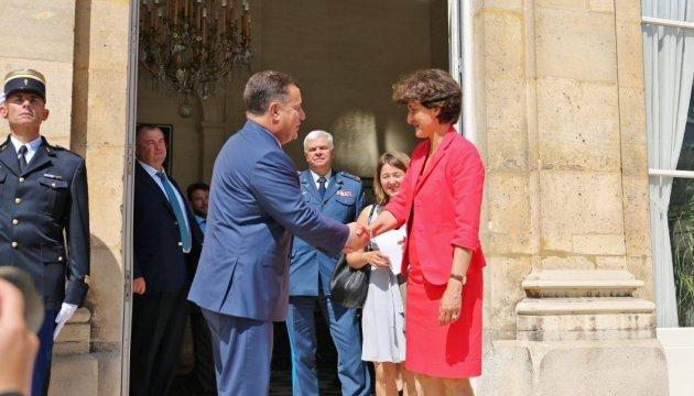 Полторак заручився підтримкою французької колеги
