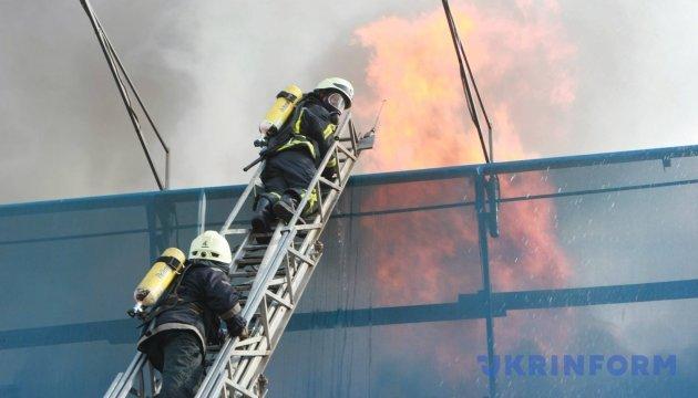 Из-за пожара на Крещатике эвакуируют Печерский суд