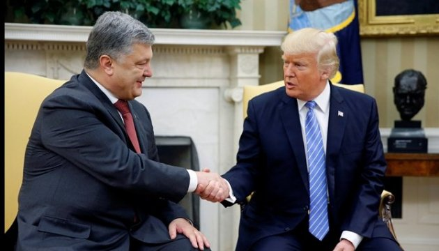 Poroshenko on meeting with Trump: We've received strong support from the U.S.