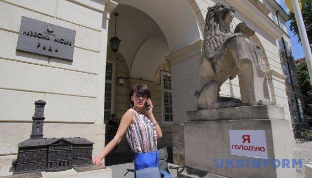 Синютка призывает прекратить голодовку под Львовским горсоветом