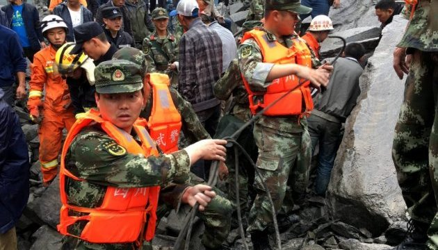 Оползень в Китае: пятеро погибли, 120 числятся пропавшими без вести
