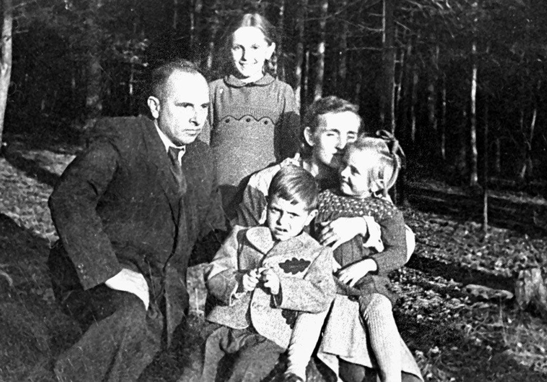 Степан Бандера с семьей