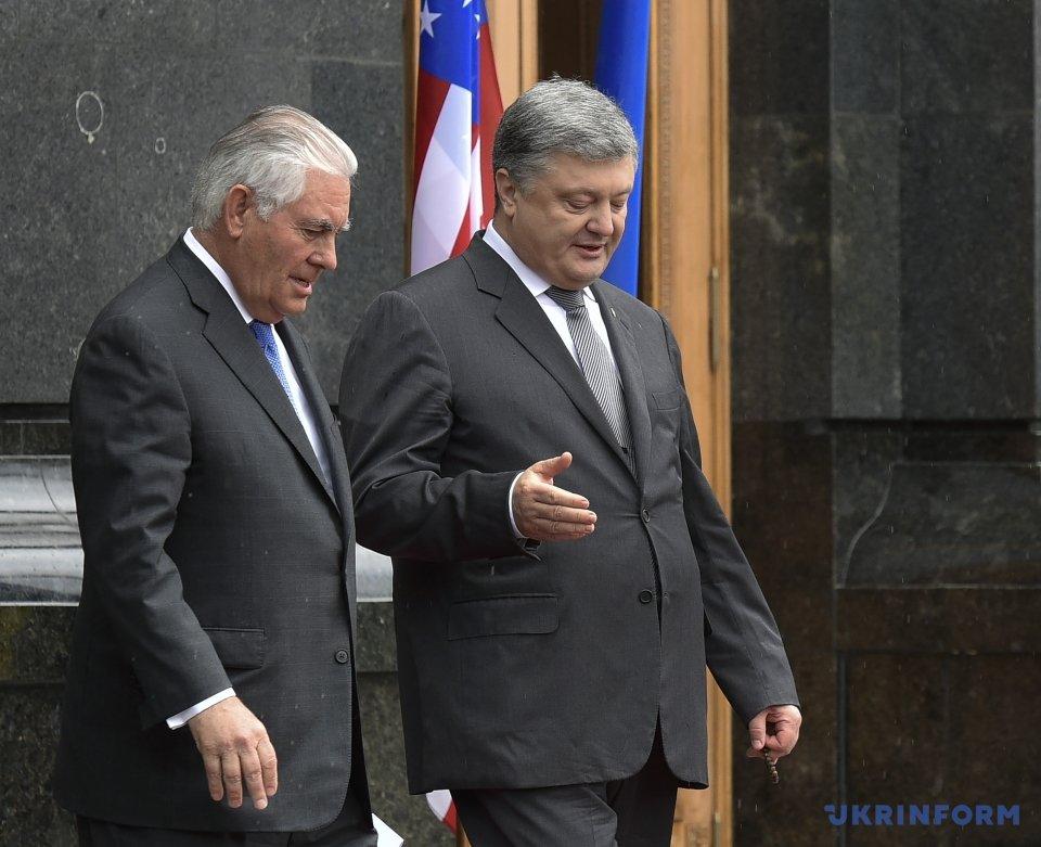 Зустріч держсекретаря США Рекса Тіллерсона і президента Петра Порошенка (9 липня, 2017)