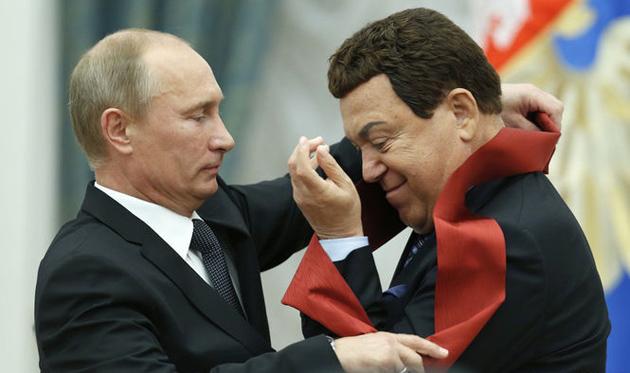 Путін, Кобзон / Фото ЕРА