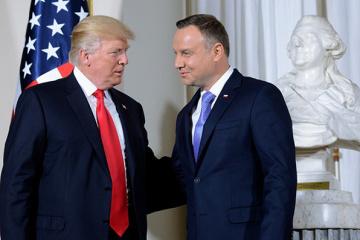 Na konferencji prasowej w Białym Domu Duda wspomniał o rosyjskiej agresji na Ukrainie