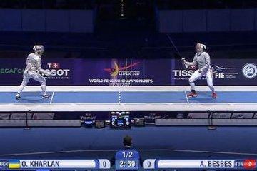 Ольга Харлан - трехкратная чемпионка мира по фехтованию на саблях