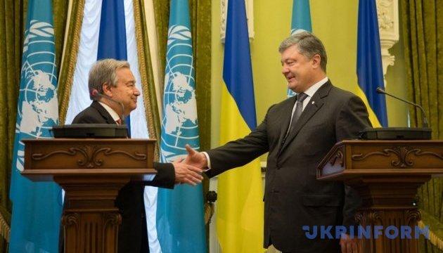Генсек ООН пообещал прилагать усилия для восстановления мира в Украине