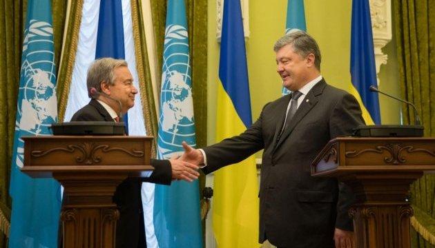 Порошенко проводить зустріч із генсеком ООН