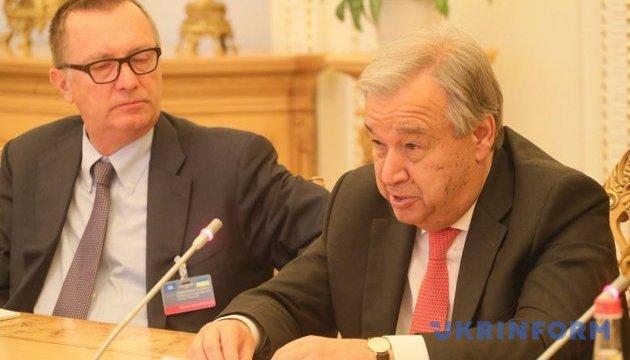 Гутерріш визнає, що ООН зробила недостатньо для переселенців в Україні