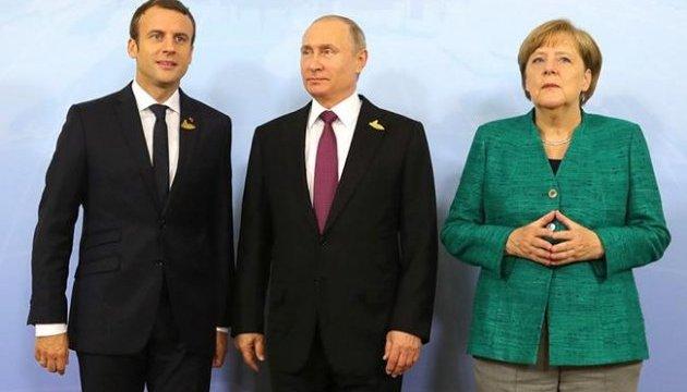 Уряд Німеччини прокоментував зустріч Меркель, Макрона та Путіна