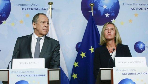 Лавров впервые с 2013 года в Брюсселе: Могерини напомнила о выполнении