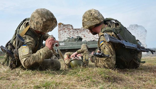 Two Ukrainian soldiers killed, four wounded in ATO zone in last day