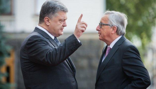 """Poroshenko: La XIX Cumbre Ucrania-UE pasará a la historia como la de """"exención de visados"""" y de """"asociación"""""""