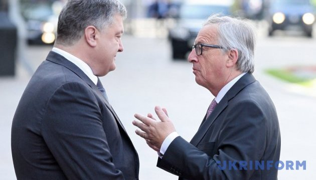 Порошенко обговорив з Юнкером Nord Stream 2 та звільнення політв'язнів