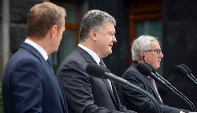 Poroshenko notes prospects for gradual drop in charges for roaming with EU
