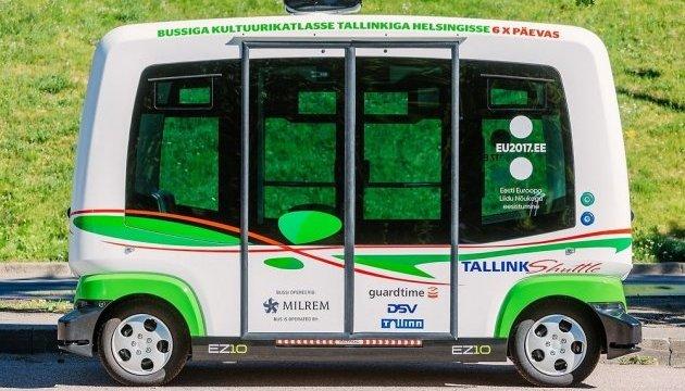 У Таллінні курсуватимуть безкоштовні автобуси-безпілотники