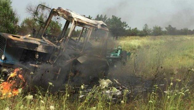 Поліція кваліфікувала як теракт підрив трактора у полі на Донеччині