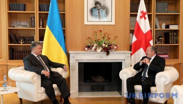 Ukraine, Georgia discuss mutual trainings of armed forces