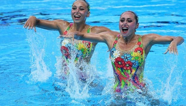 Ukraine's synchronized swimming duet wins bronze medal at FINA World Championships