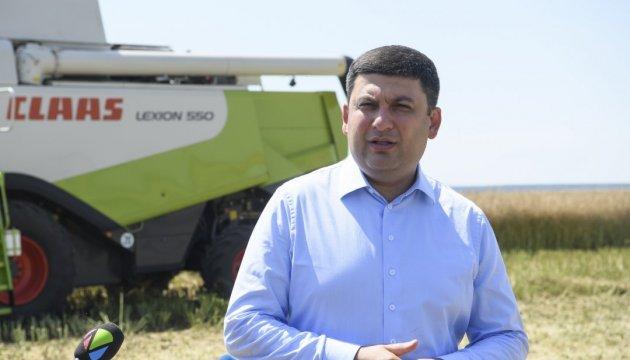 Regierungschef Hrojsman über Hauptziele der Bodenreform