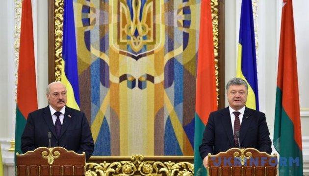 Discussions entre Porochenko et Lukachenko