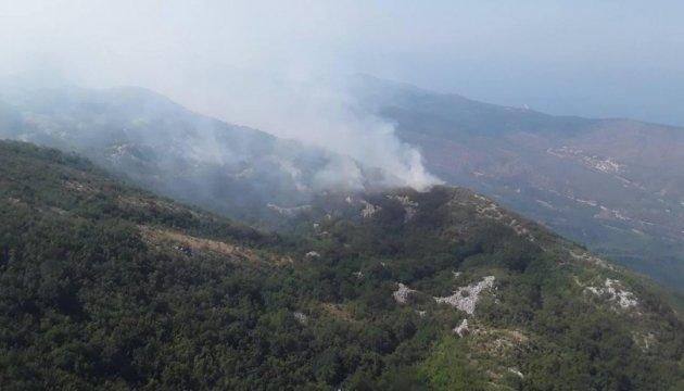 Лесные пожары в Черногории: украинская авиация сбросила уже 240 тонн воды