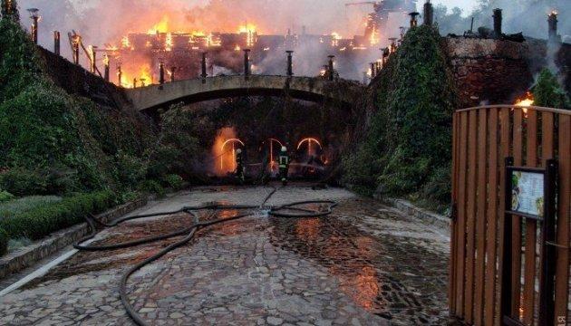 Un café a brûlé dans l'allée d'Arcadie à Odessa