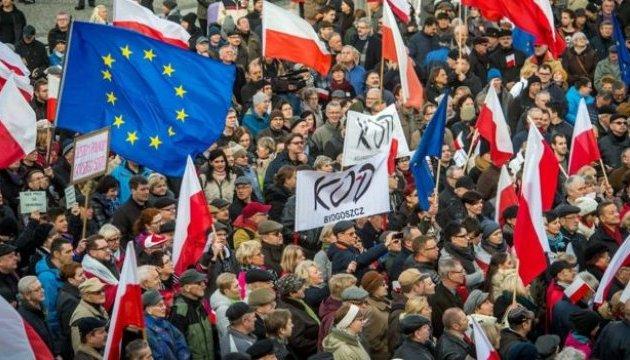 В Польше продолжаются протесты против судебной реформы