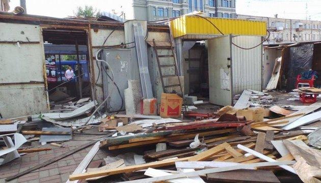 Снос МАФов возле «Лесной»: полиция задержала 6 человек и строительную технику