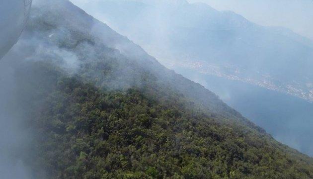 Лесные пожары в Черногории: украинская авиация сбросила уже 400 тонн воды
