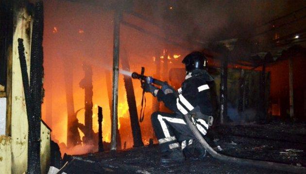 В Одессе на пляже сгорел ночной клуб