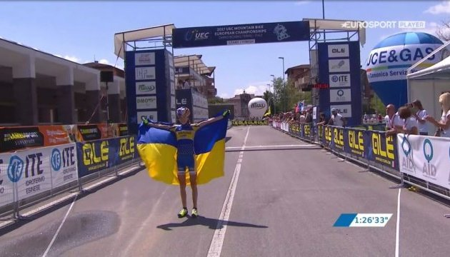 Украинка Яна Беломоина - чемпионка Европы по маунтинбайку