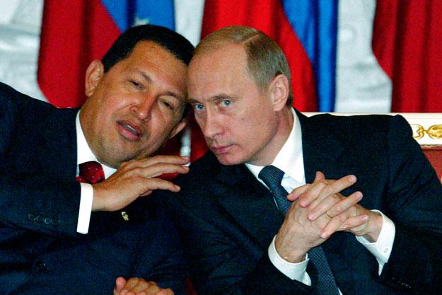 Президент Росії Володимир Путін і президент Венесуели Уго Чавес - розмова під час зустрічі в Кремлі