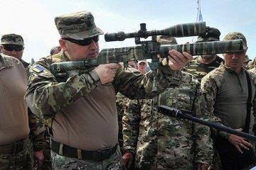 Turchynov reports on successful military tests of Ukrainian ammunition
