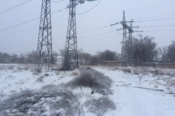 Bad weather causes blackouts in 27 towns and villages in Luhansk region