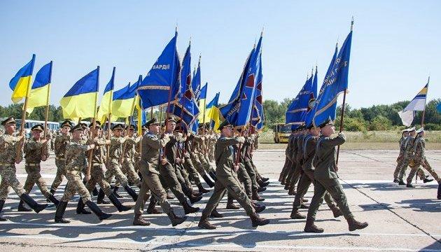 В Киеве провели первую репетицию парада ко Дню Независимости