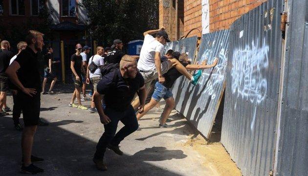 В Одессе противники гей-парада устроили погром на стройке