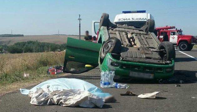 Смертельна ДТП на Донеччині: Lanos перекинувся серед дороги