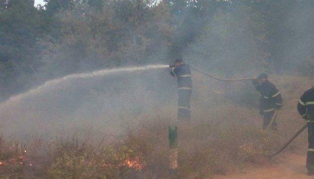На Миколаївщині горять 50 гектарів лісу