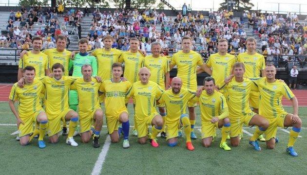 Національна збірна України серед ветеранів виграла футбольний матч у Торонто