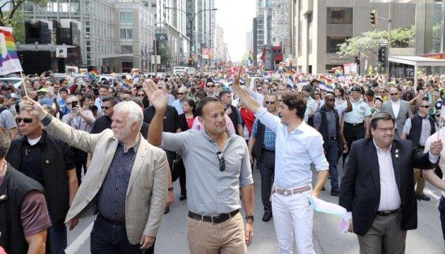 Прем'єри Канади та Ірландії пройшли з прайд-парадом у Монреалі