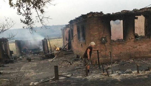 Пожежа знищила маленьке село на Донеччині - Жебрівський
