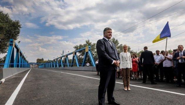 Порошенко анонсував відкриття нових доріг у жовтні