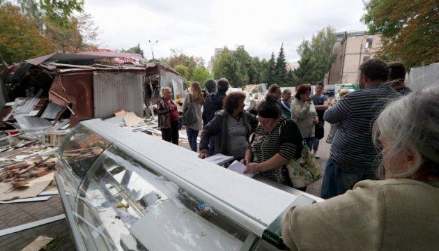 Знесення кіосків біля метро КПІ: у Кличка кажуть — звільнили підхід до ліцею