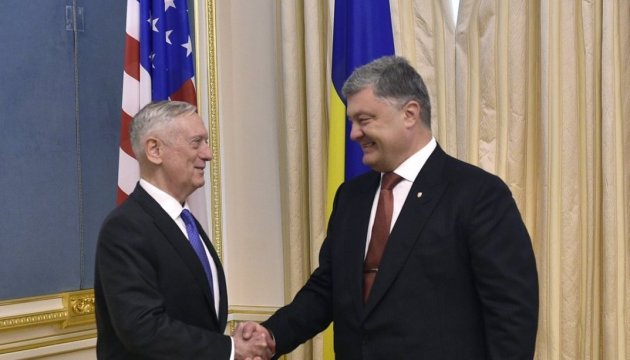 Poroshenko, Mattis discuss fight against Russian aggression in Ukraine